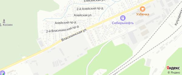 Пихтовая улица на карте Барнаула с номерами домов