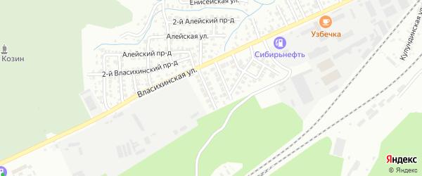 Пихтовая улица на карте садового некоммерческого товарищества N 7 с номерами домов