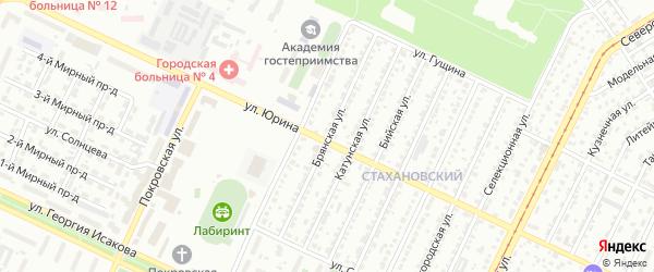 Брянская улица на карте Барнаула с номерами домов