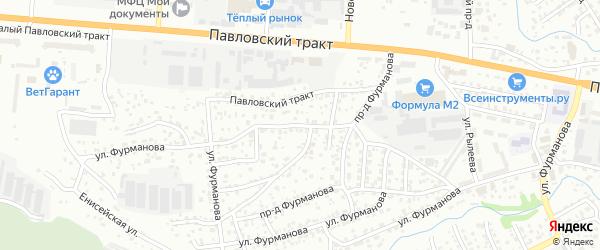 Проезд Фурманова на карте Барнаула с номерами домов