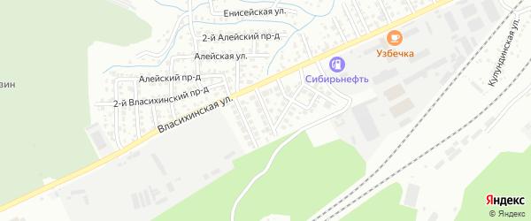 Брусничная улица на карте Барнаула с номерами домов