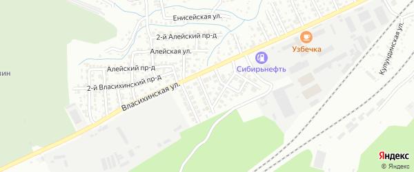 Брусничная улица на карте садового некоммерческого товарищества N 3 с номерами домов