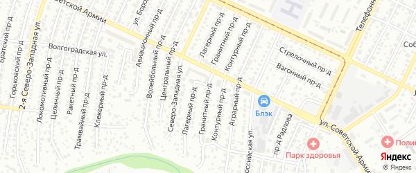 Гранитный проезд на карте Барнаула с номерами домов