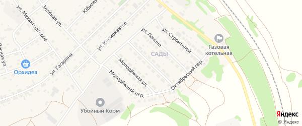 Октябрьская улица на карте села Озерков с номерами домов