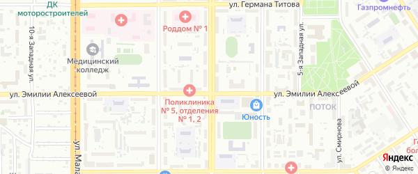 Улица 40 лет Октября на карте Барнаула с номерами домов