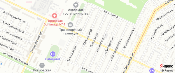 Катунская улица на карте Барнаула с номерами домов