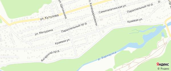 Ангарский проезд на карте Барнаула с номерами домов