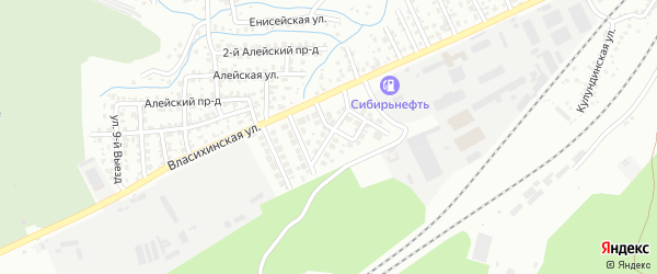 Дивная улица на карте Барнаула с номерами домов