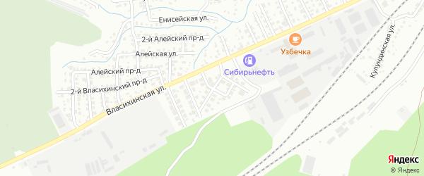 Заповедная улица на карте Барнаула с номерами домов