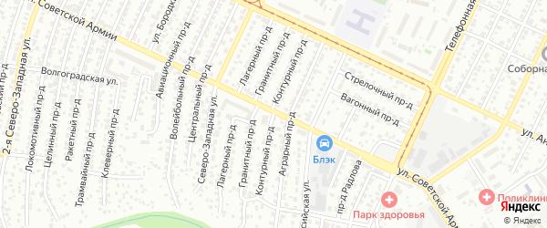 Контурный проезд на карте Барнаула с номерами домов