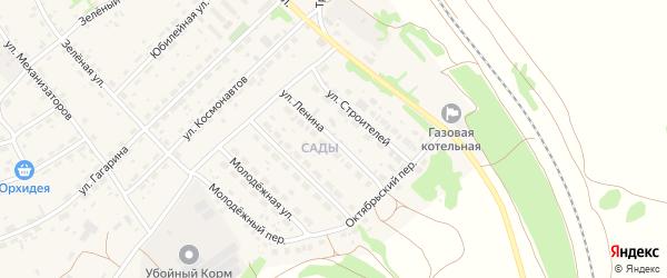 Улица Ленина на карте села Озерков с номерами домов