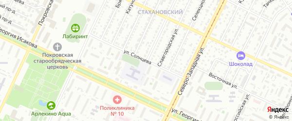 Улица Бородкина на карте Барнаула с номерами домов