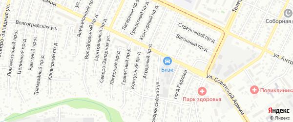 Аграрный проезд на карте Барнаула с номерами домов
