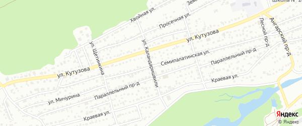 Улица Каландаришвили на карте Барнаула с номерами домов