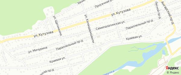 Параллельный проезд на карте Барнаула с номерами домов