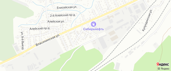 Еловая улица на карте Барнаула с номерами домов