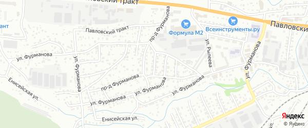 Керамический 3-й проезд на карте Барнаула с номерами домов