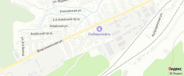 Приветная улица на карте Барнаула с номерами домов