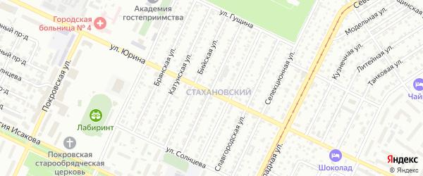 Каменская улица на карте Барнаула с номерами домов