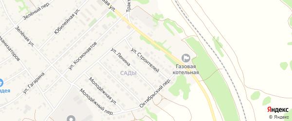 Улица Строителей на карте села Озерков с номерами домов