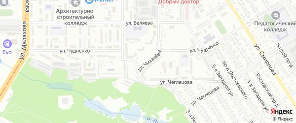 Улица Чихачева на карте Барнаула с номерами домов
