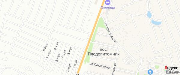 Змеиногорский тракт на карте поселка Плодопитомника с номерами домов