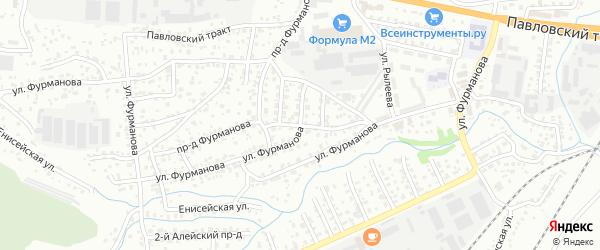 Улица Фурманова на карте Барнаула с номерами домов