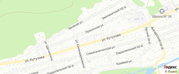 Болотный проезд на карте Барнаула с номерами домов
