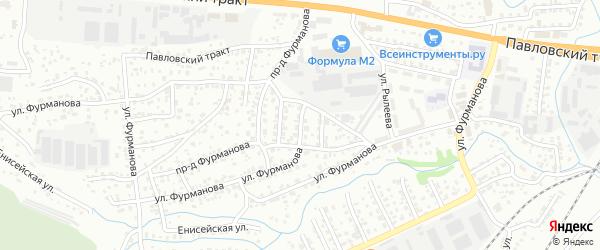 Керамический 2-й проезд на карте Барнаула с номерами домов