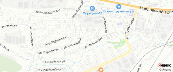 Керамический 1-й проезд на карте Барнаула с номерами домов