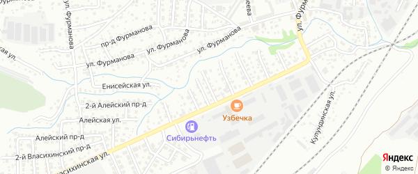 Улица 4 Выезд на карте Барнаула с номерами домов