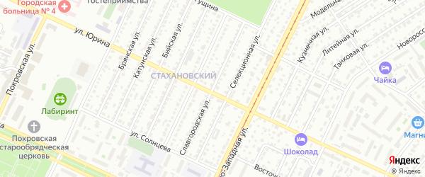 Славгородская улица на карте Барнаула с номерами домов