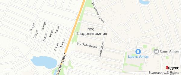 Космическая улица на карте поселка Плодопитомника с номерами домов