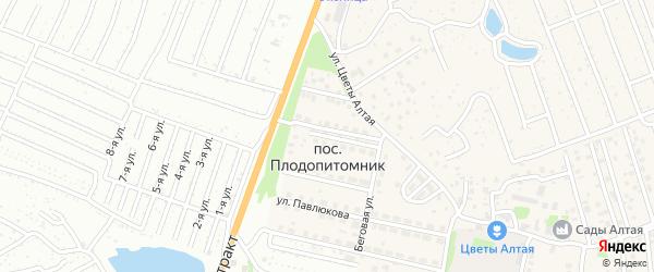 Республиканская улица на карте поселка Плодопитомника с номерами домов