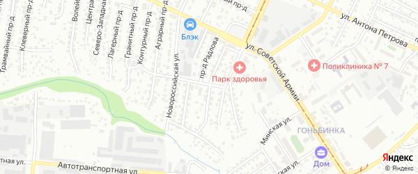 Цукановой проезд на карте Барнаула с номерами домов