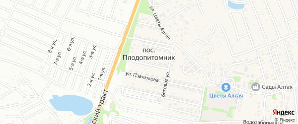 Цветочная улица на карте поселка Плодопитомника с номерами домов