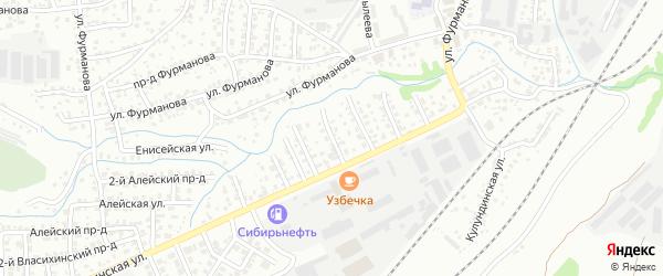 Тормозная 3-я улица на карте Барнаула с номерами домов
