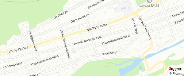 Улица Демьяна Бедного на карте Барнаула с номерами домов