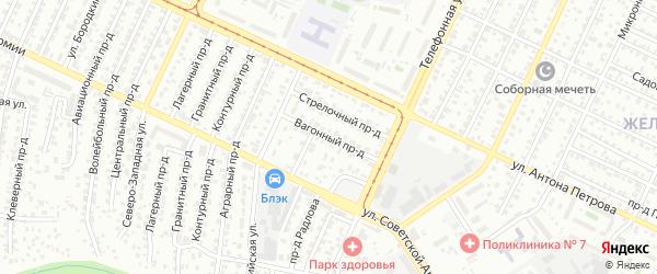 Вагонный 1-й переулок на карте Барнаула с номерами домов