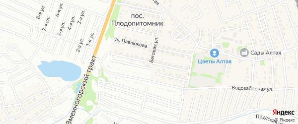 Улица Березовая Роща на карте поселка Плодопитомника с номерами домов