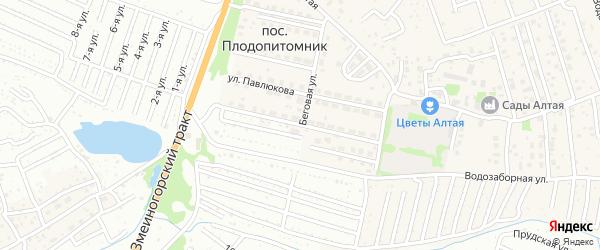 Улица Березовая Роща на карте Барнаула с номерами домов