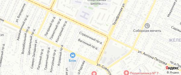 Стрелочный проезд на карте Барнаула с номерами домов