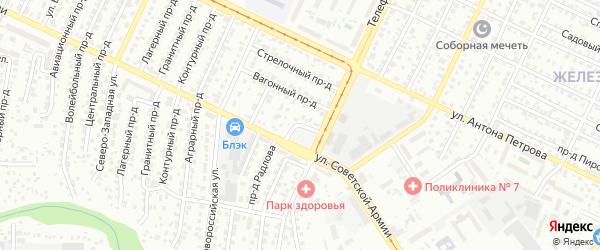 Кофейный 1-й проезд на карте Барнаула с номерами домов