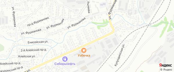 Тормозная 2-я улица на карте Барнаула с номерами домов