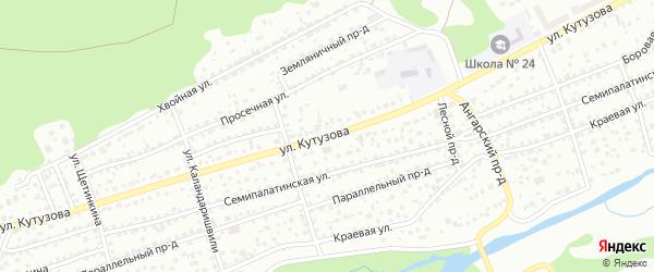 Улица Кутузова на карте Барнаула с номерами домов