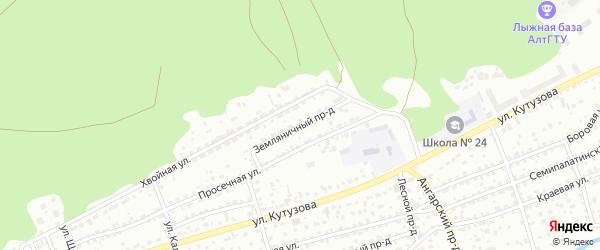 Земляничный проезд на карте Барнаула с номерами домов
