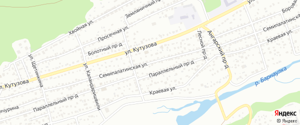 Семипалатинская улица на карте Барнаула с номерами домов