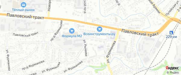 Улица Рылеева на карте Барнаула с номерами домов