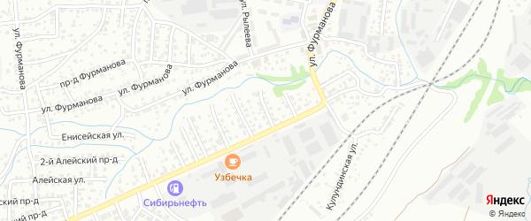 Улица 1 Выезд на карте Барнаула с номерами домов