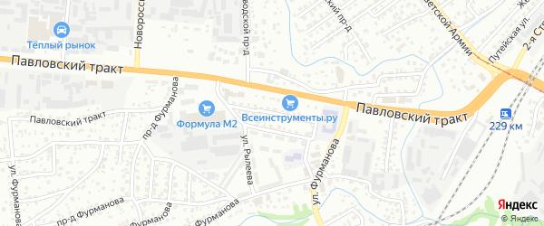 Кирзаводской проезд на карте Барнаула с номерами домов